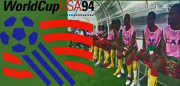 Kameruns avbytarbänk under fotbolls-VM i USA 1994.