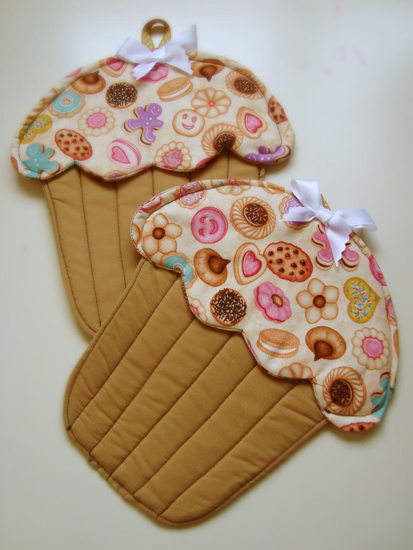 Creativa lorean agarradores de cocina con forma de cupcake for Moldes de cocina
