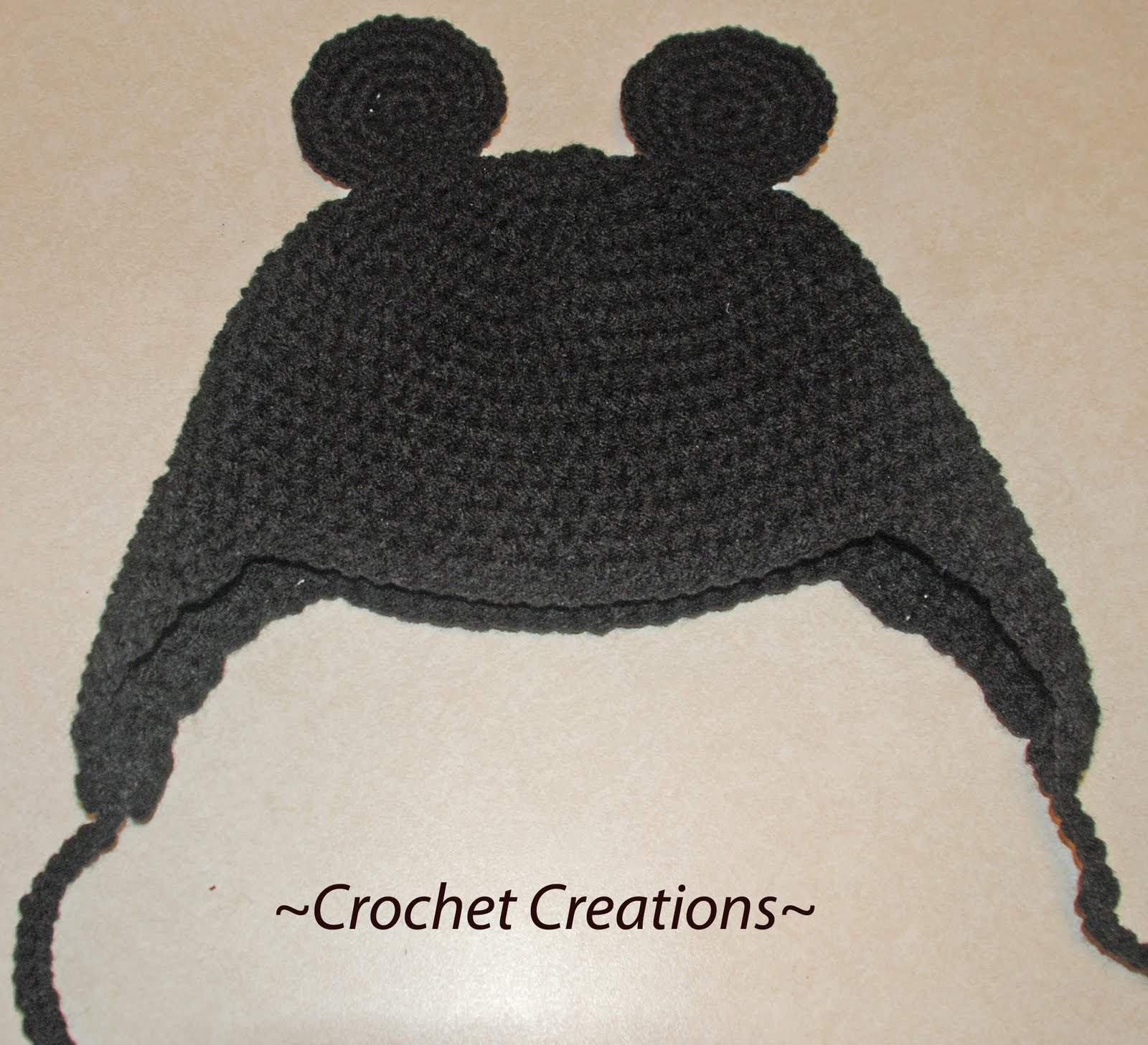 Free Crochet Pattern Mickey Hat : Amys Crochet Creative Creations: Crochet Mouse Ears Child ...
