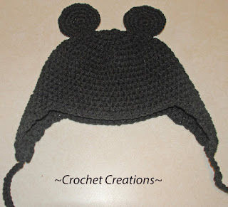 crochet mickey mouse earflap child hat