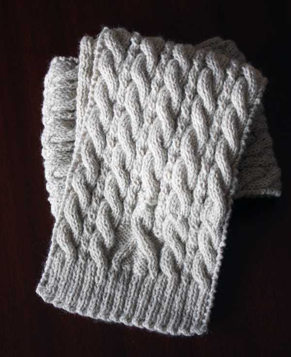 Free Knitting Pattern For Ribbon Scarf : { jenn maple handmade }: awareness ribbon scarf - free ...