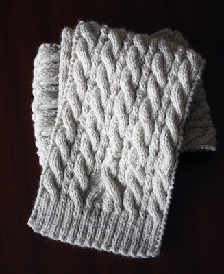 awareness ribbon scarf - free knitting pattern