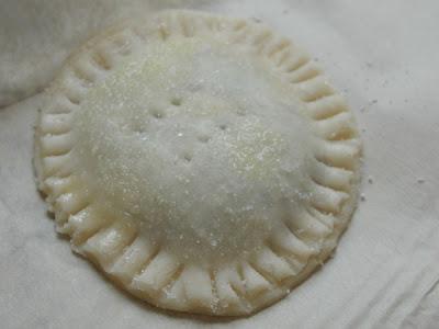 egg wash and sugar coated crust