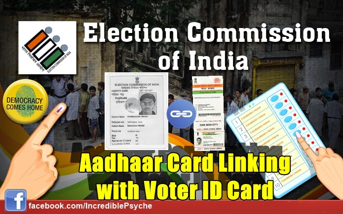 Election commission of India Aadhaard card linking with voter id card online process. free SMS and toll ree calling method