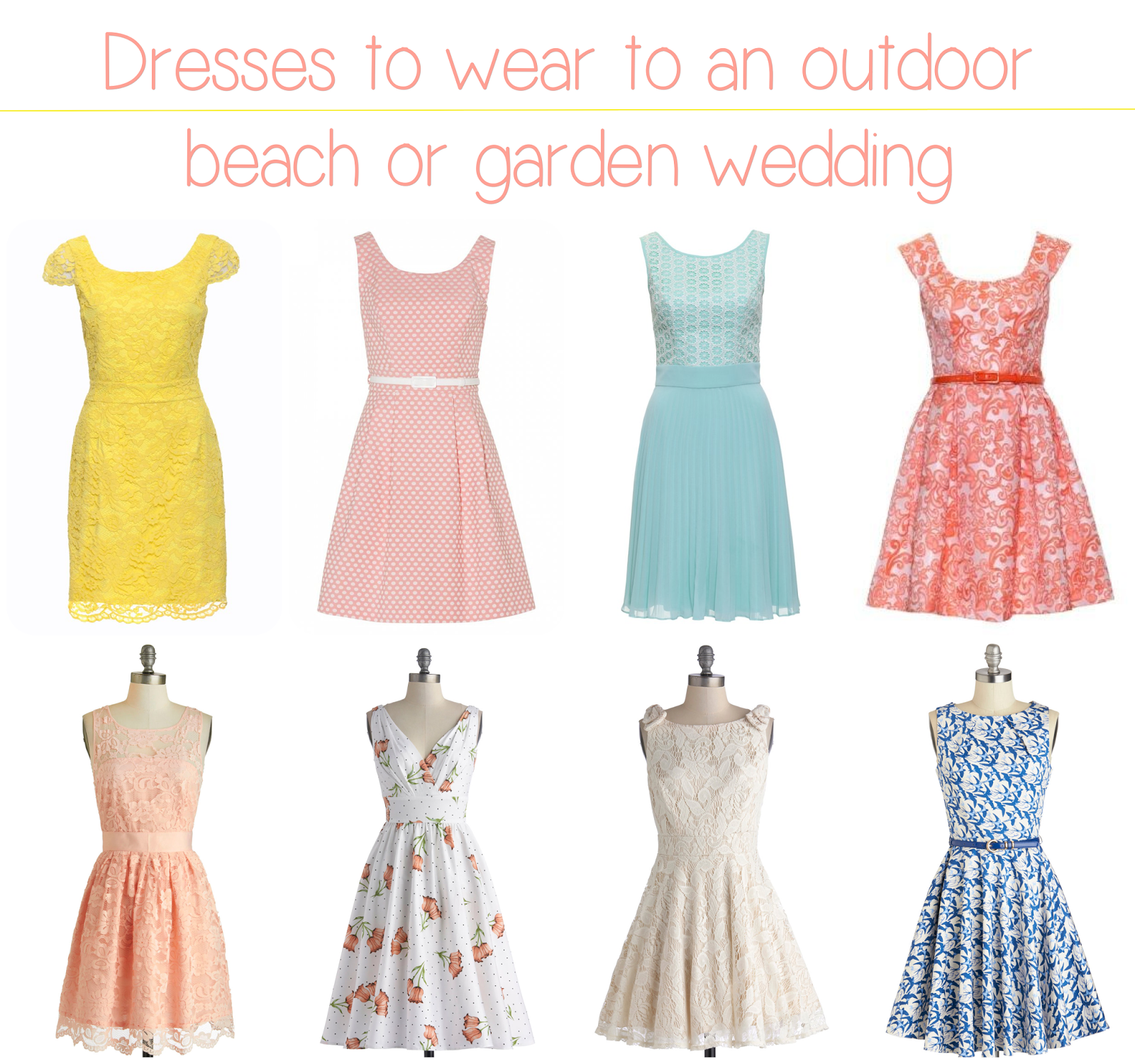 Wedding decoration what to wear to an outdoor wedding in for Garden wedding dresses guest