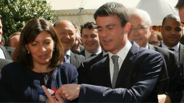 Avec le Premier Ministre, la Maire de Paris et le Président de la Région IDF
