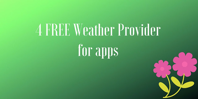 free weather api for apps