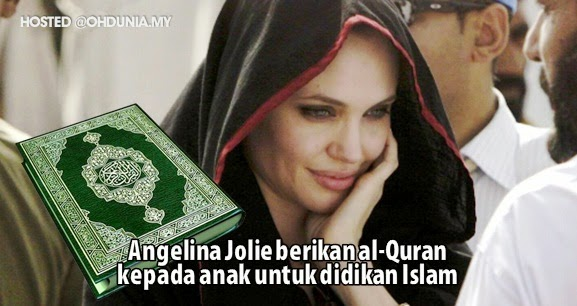 Angelina Jolie simpan al-Quran di rumah untuk didikan Islam anak
