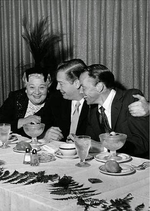 Sophie Tucker with Frank Sinatra