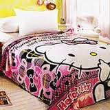 Jual Selimut belladona sutra panel kitty pink