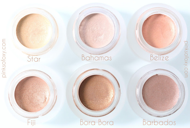 100 Percent Pure Bora Bora Eyeshadow Swatches