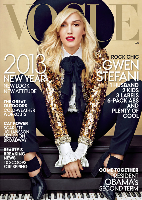 Gwen covers the front page of Vogue's magazine