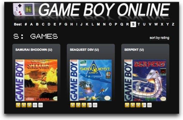 Jugar al Gameboy OnLine