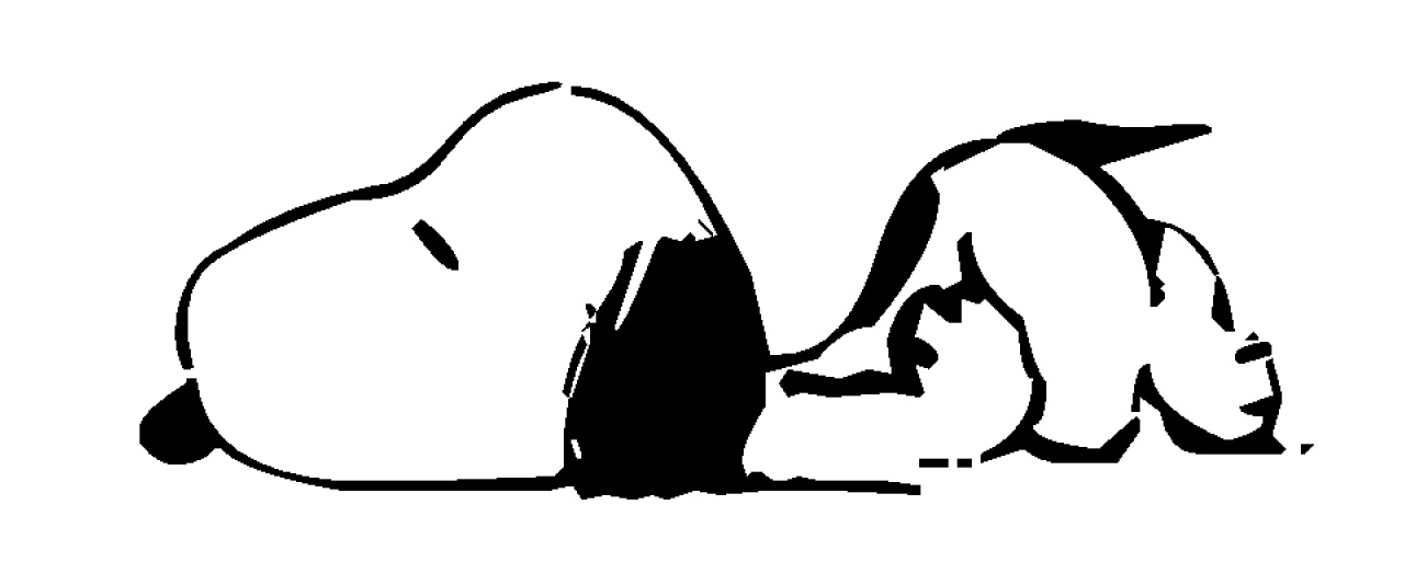 how to draw snoopy laying on his doghouse