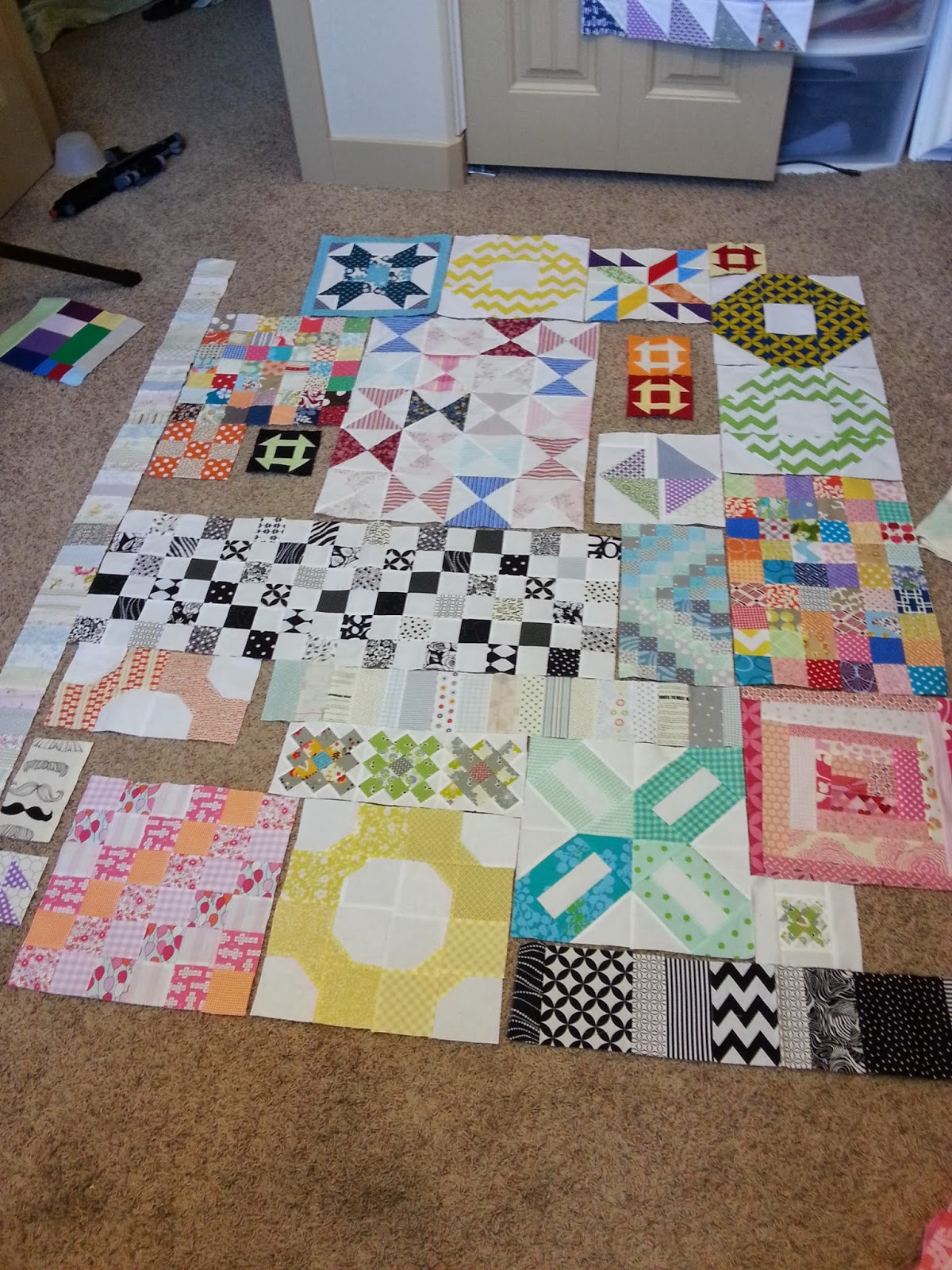 Scrappy Orphan Quilt Blocks Organized