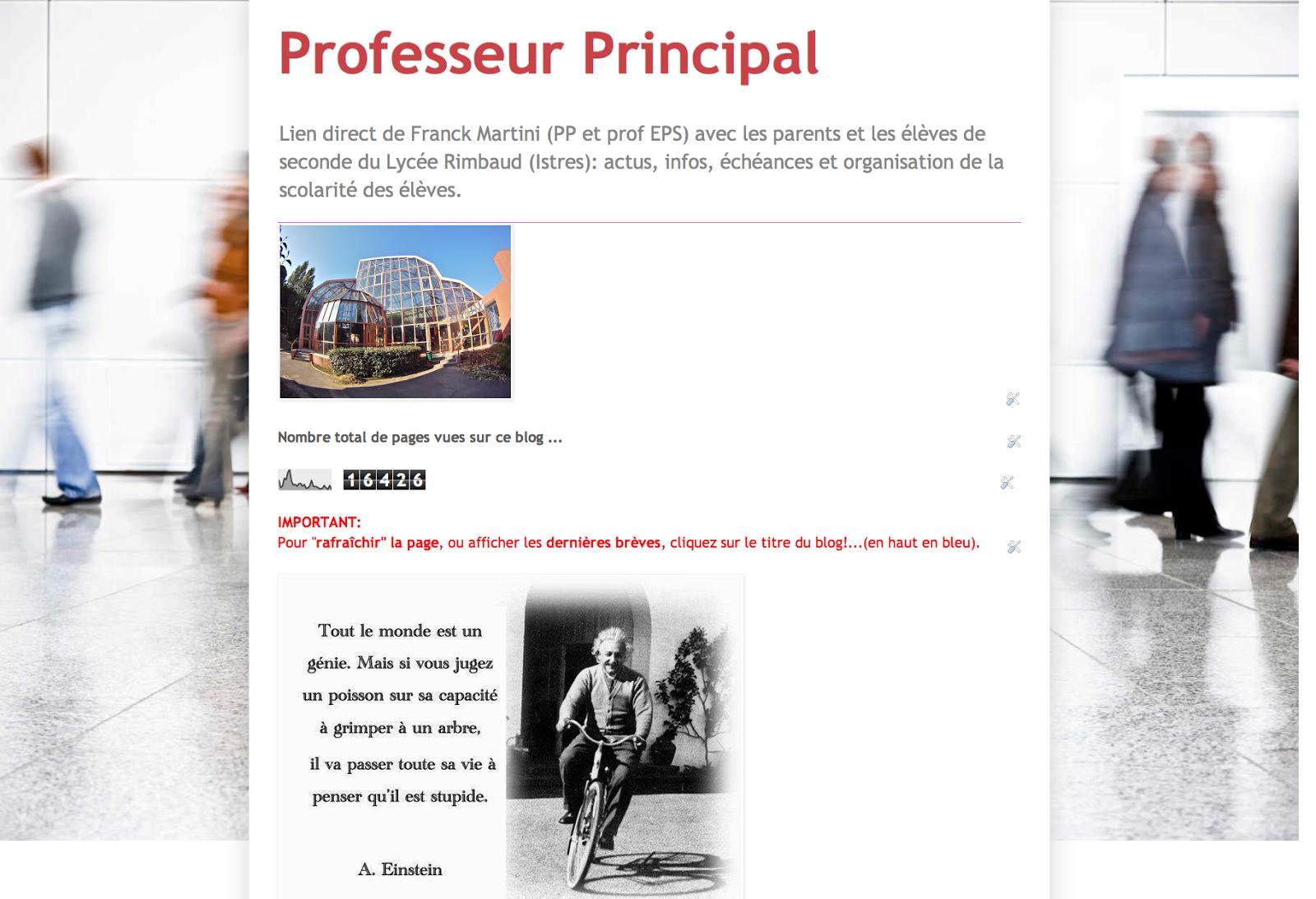 Le Blog Prof Principal de Franck Martini