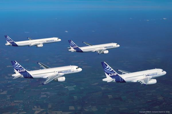 Aviones comerciales volando