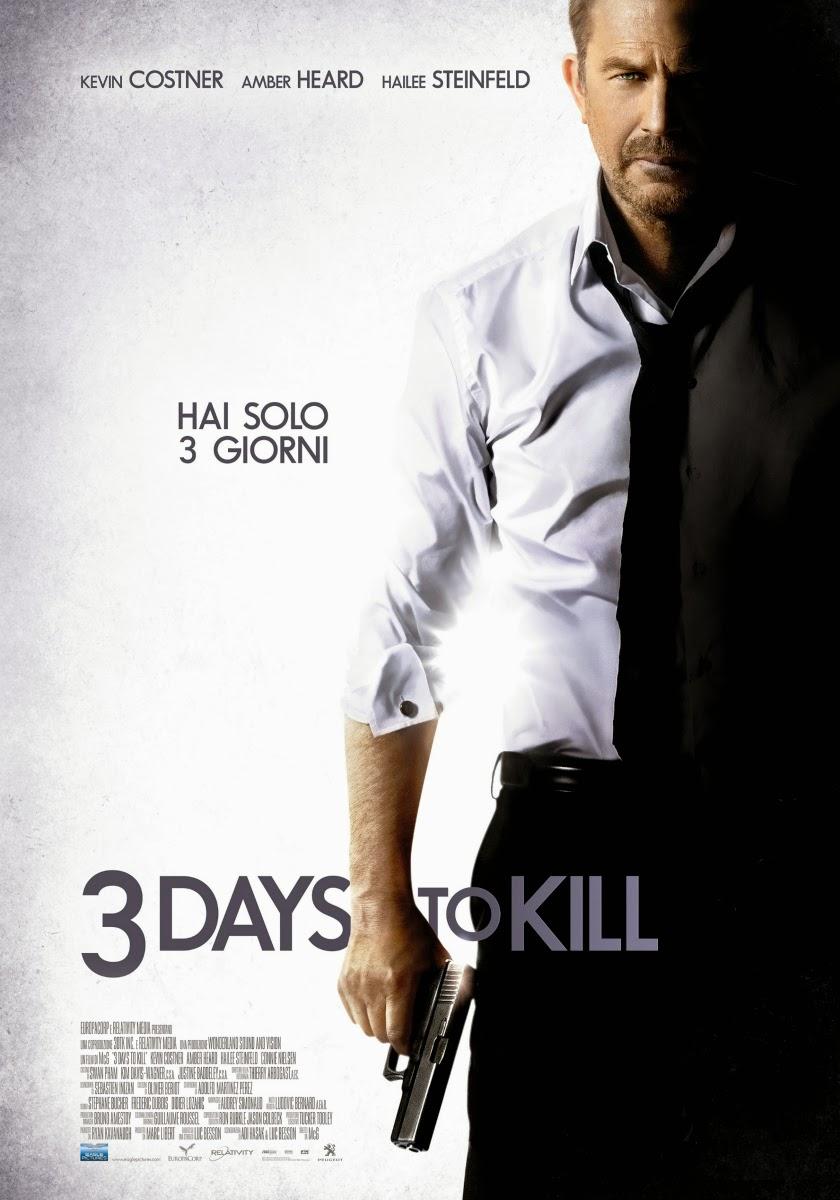 blu ray dvd italia 3 days to kill al cinema dal 05 giugno 2014. Black Bedroom Furniture Sets. Home Design Ideas