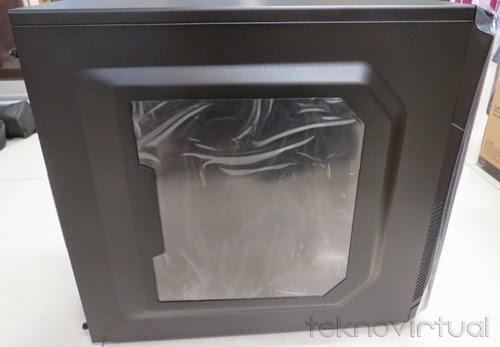 Tampang Casing Cooler Master K282 (dengan kaca transparan)