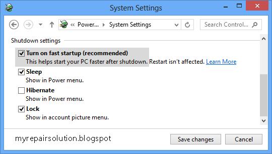 mengatasi windows 8 / 8.1 tidak bisa shutdown