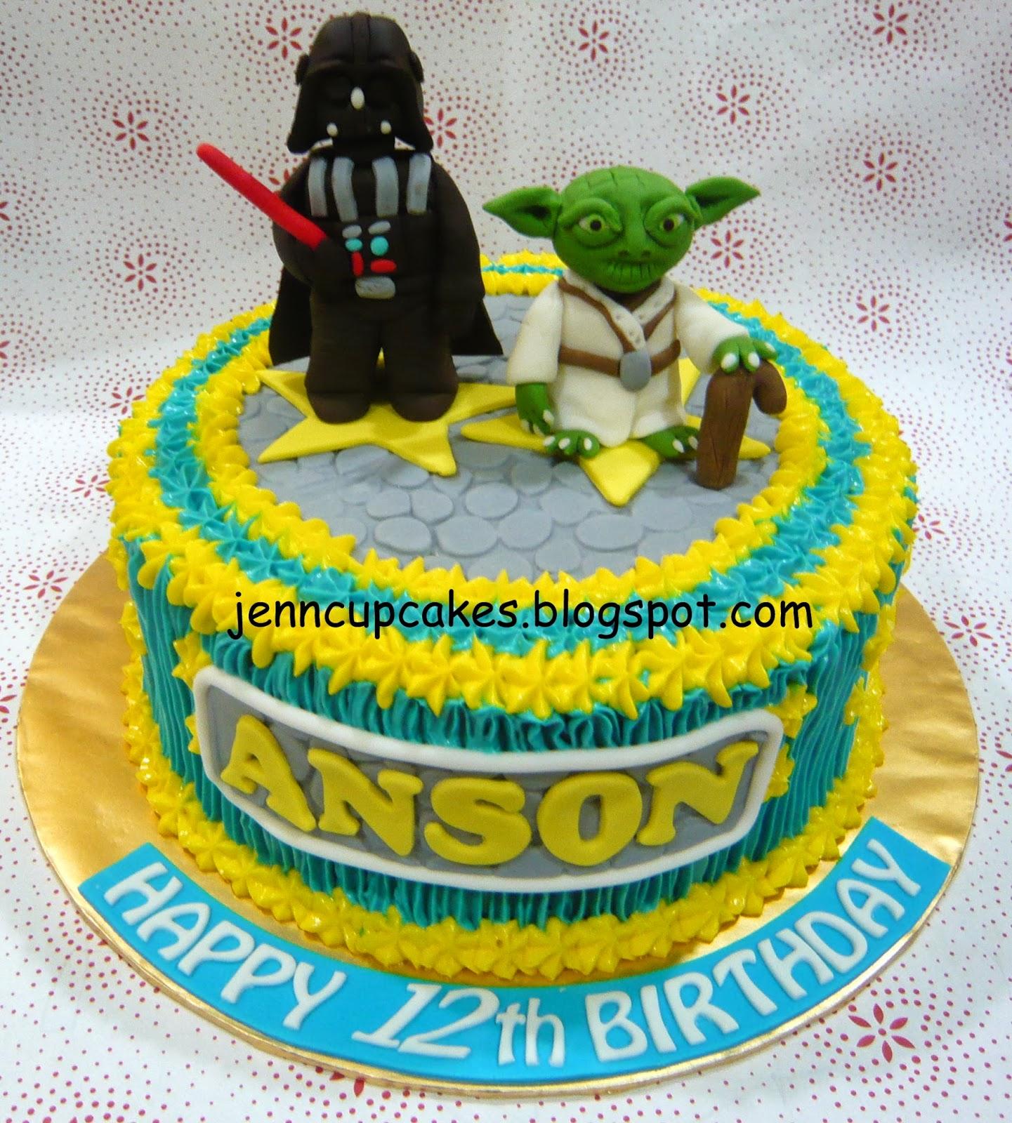 Jenn Cupcakes Muffins Star Wars Cake Yoda Darth Vader