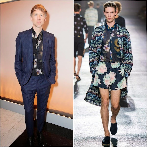 Jefferson Hack's Dries Van Noten floral print shirt - Kate Moss for Topshop Dinner