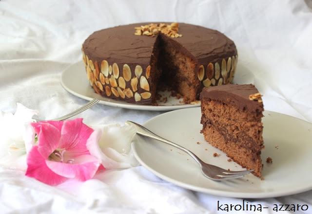Čokoládovo marcipánová torta (s čokoládovým Mousse)