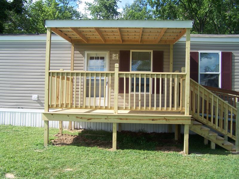 Mobile home covered deck plans joy studio design gallery for Diy decks for mobile homes