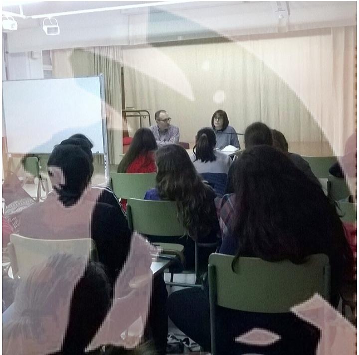 Caterina Cremec visita l'IES Salvador Gadea