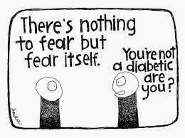 Fearing Diabetes Funny Humor Cartoons, Quotes and Jokes