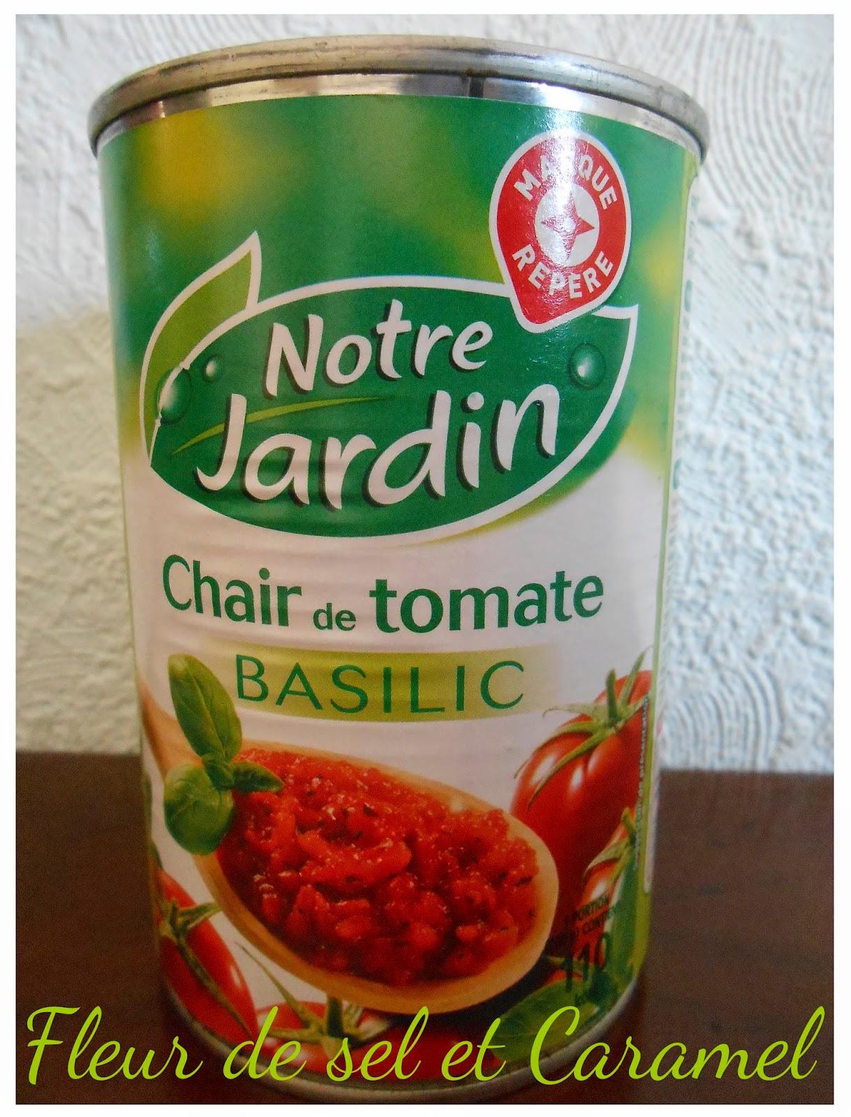 Chair de tomate au basilic