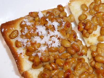 納豆にマーガリン(ネオソフト) 納豆トースト(砂糖かけ)