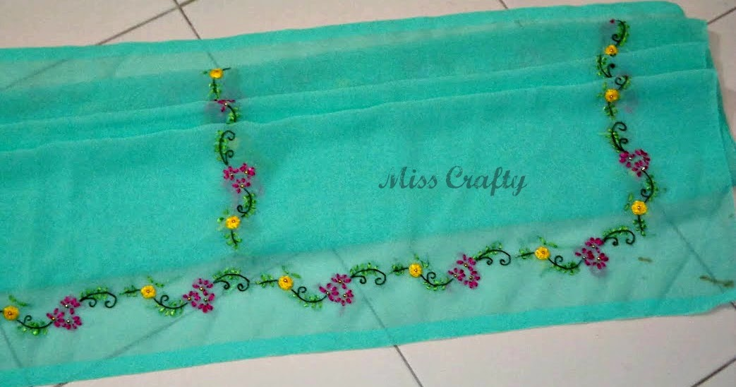 The craft gallery ribbon embroidery on saree