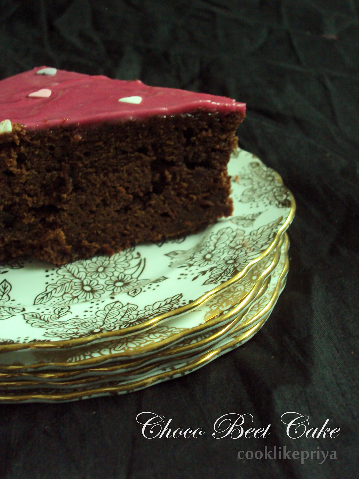 Chocolate Cake Made From Beetroot Without Flour