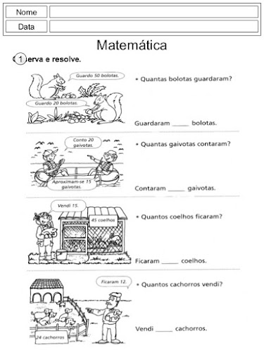 Problemas de 2º Ano Matemática