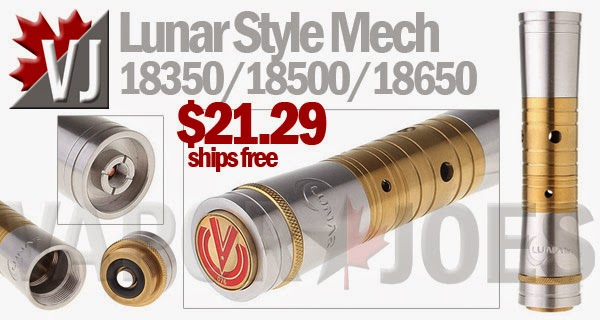 Lunar Styled Mechanical Mod - 18350/18500/18650