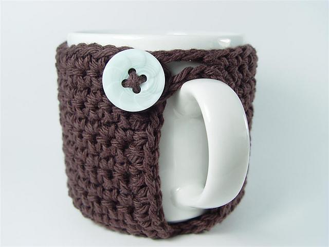 DIY Fundas de ganchillo para vasos y tazas..
