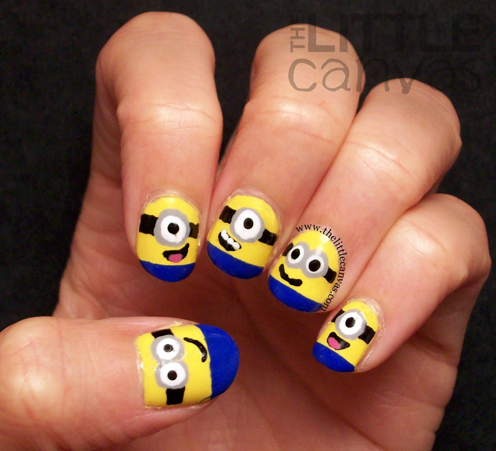 Despicable Me Minion Nails + Tutorial! - The Little Canvas