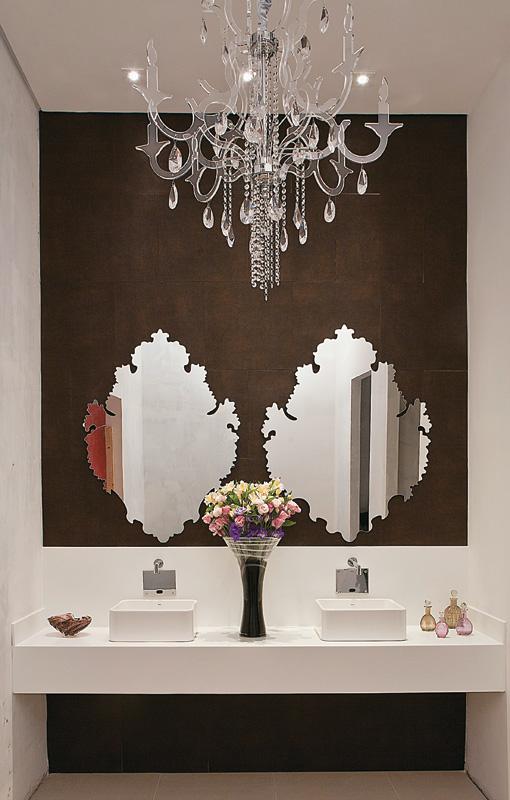 decoracao lavabos banheiros: as cores, os acabamentos e o mobiliário desses banheiros e lavabos