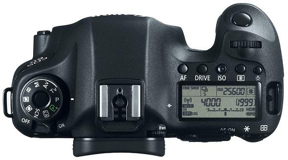 Fotografia della Canon EOS 6D vista dall'alto