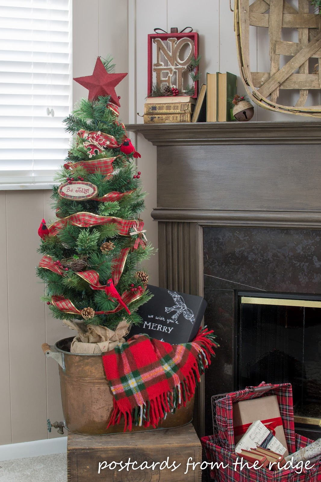 Christmas Family Room Mantel with At Home Stores - Postcards from ...