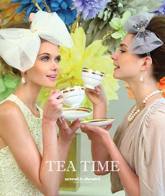 Ksenia Shirokova in a TEA TIME advertising, Malaysia