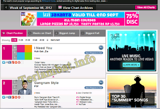 Lagu Korea Terbaru September 2012