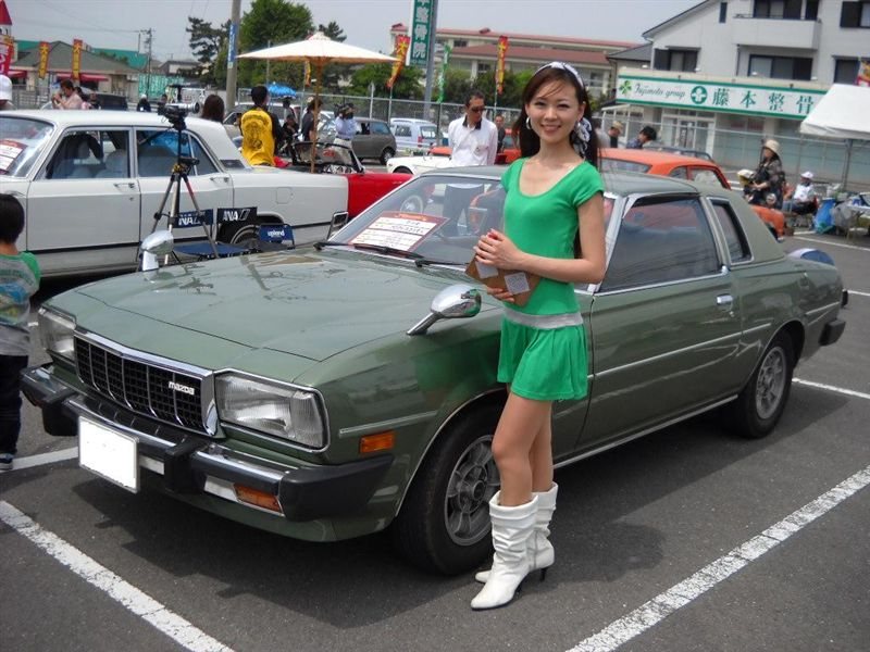 Mazda Cosmo L, po faceliftingu, coupe, stary samochód, klasyczny, japoński, JDM, zdjęcia, photos