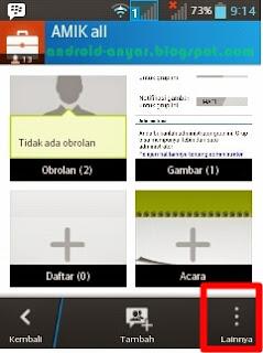 cara membuka menu pengaturan grup BBM Android