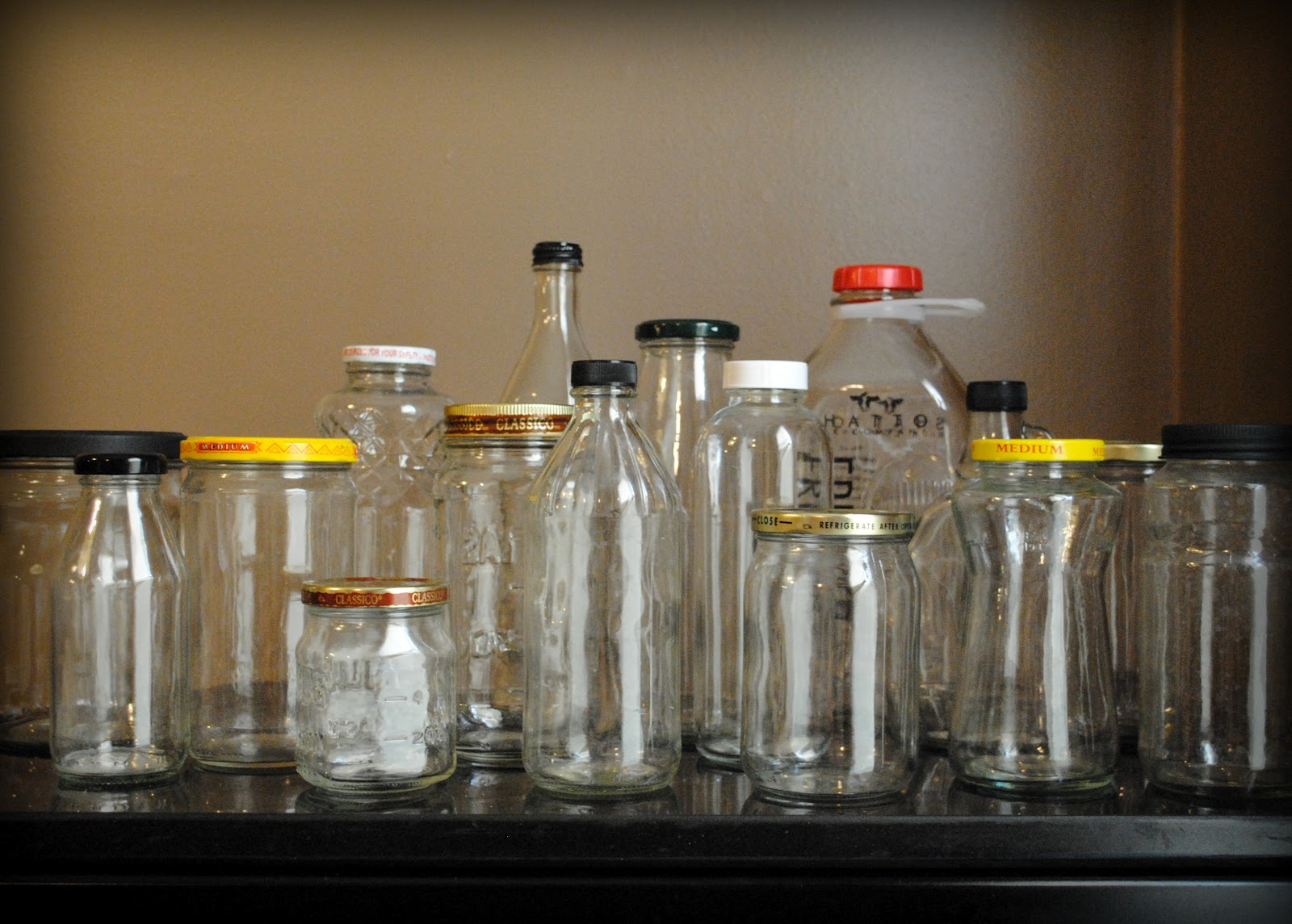 I thought of it second glass jars saving and reusing for Reuse glass