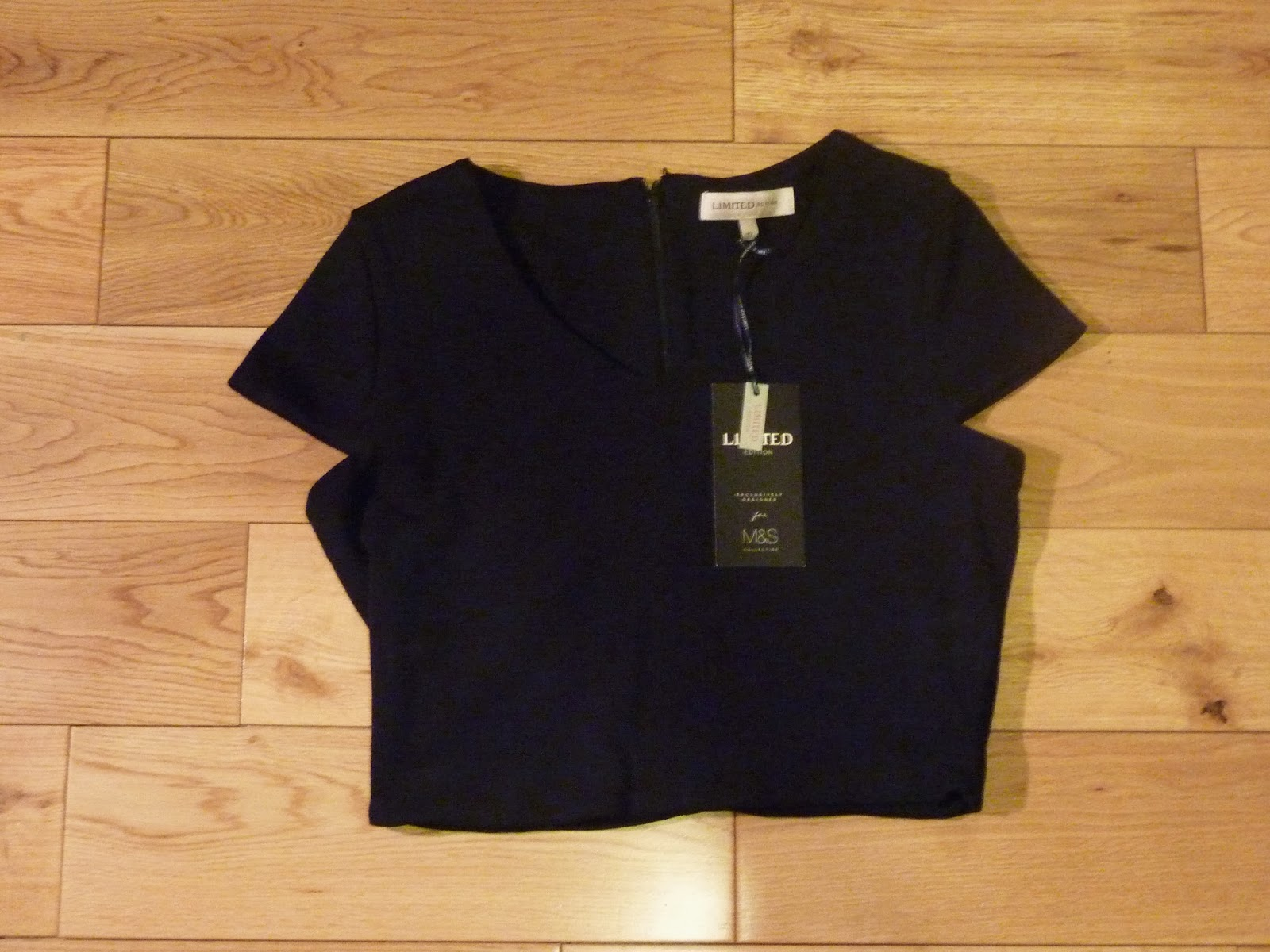 M&S Black Tailored Crop Top Sale