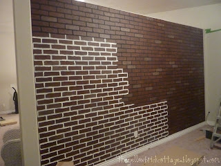 The not so secret life of jennifer nicole faux brick wall - Artificial brick wall panels ...