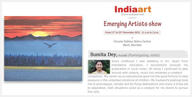 Artist Statement by Sumita Dey - Emerging Artists show by Indiaart.com