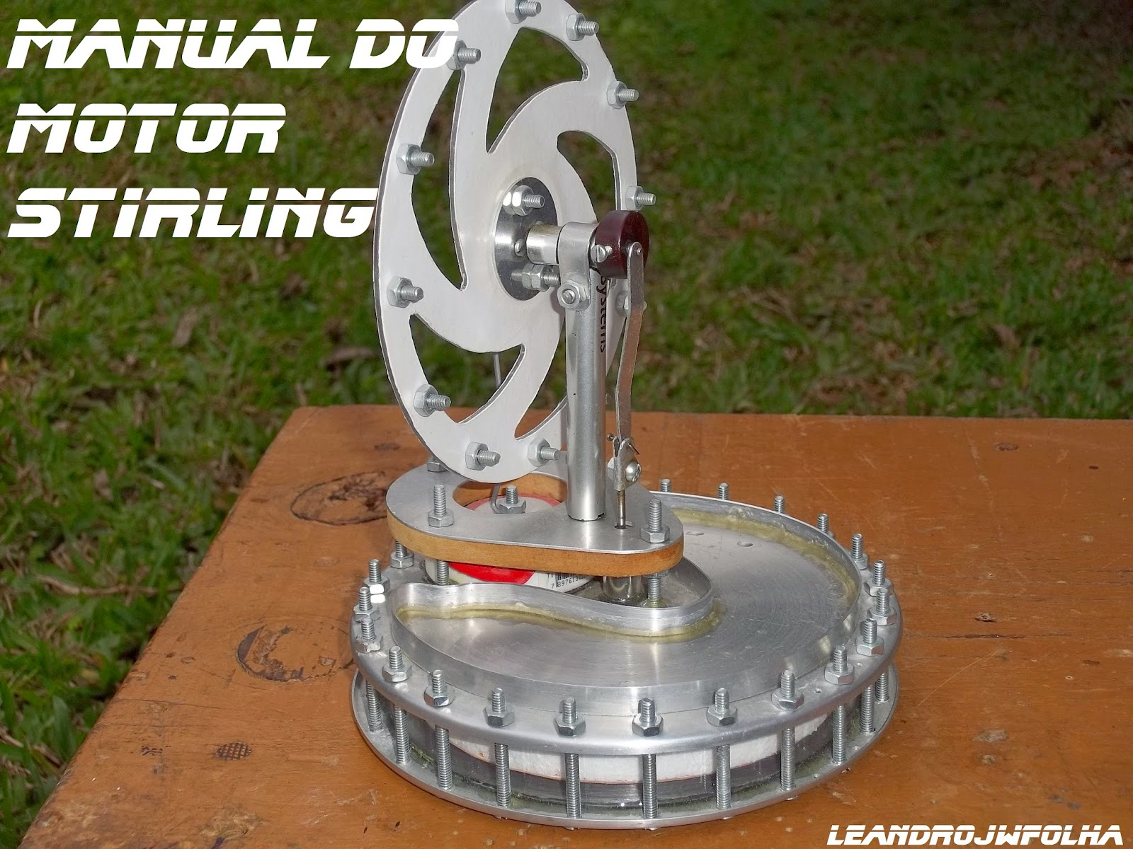 Manual do motor Stirling, motor caseiro do modelo Gama LTD